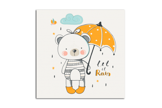 Картина Мишка под зонтом